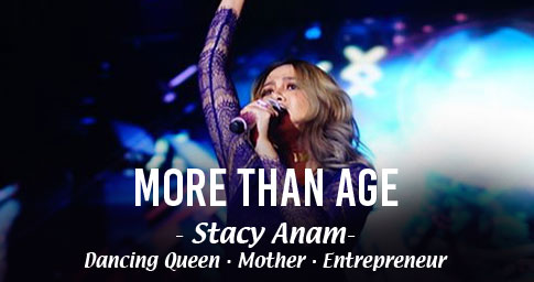 "DO MORE, BE MORE, WITH ANLENE<sup>TM</sup>.<br><span style="""">STACY ANAM IS MORE THAN HER YOUNG AGE.</span>"